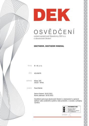 DEK ETICS Dektherm 2021